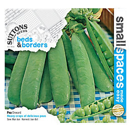Suttons Small Space Pea Seeds, Onward Mix