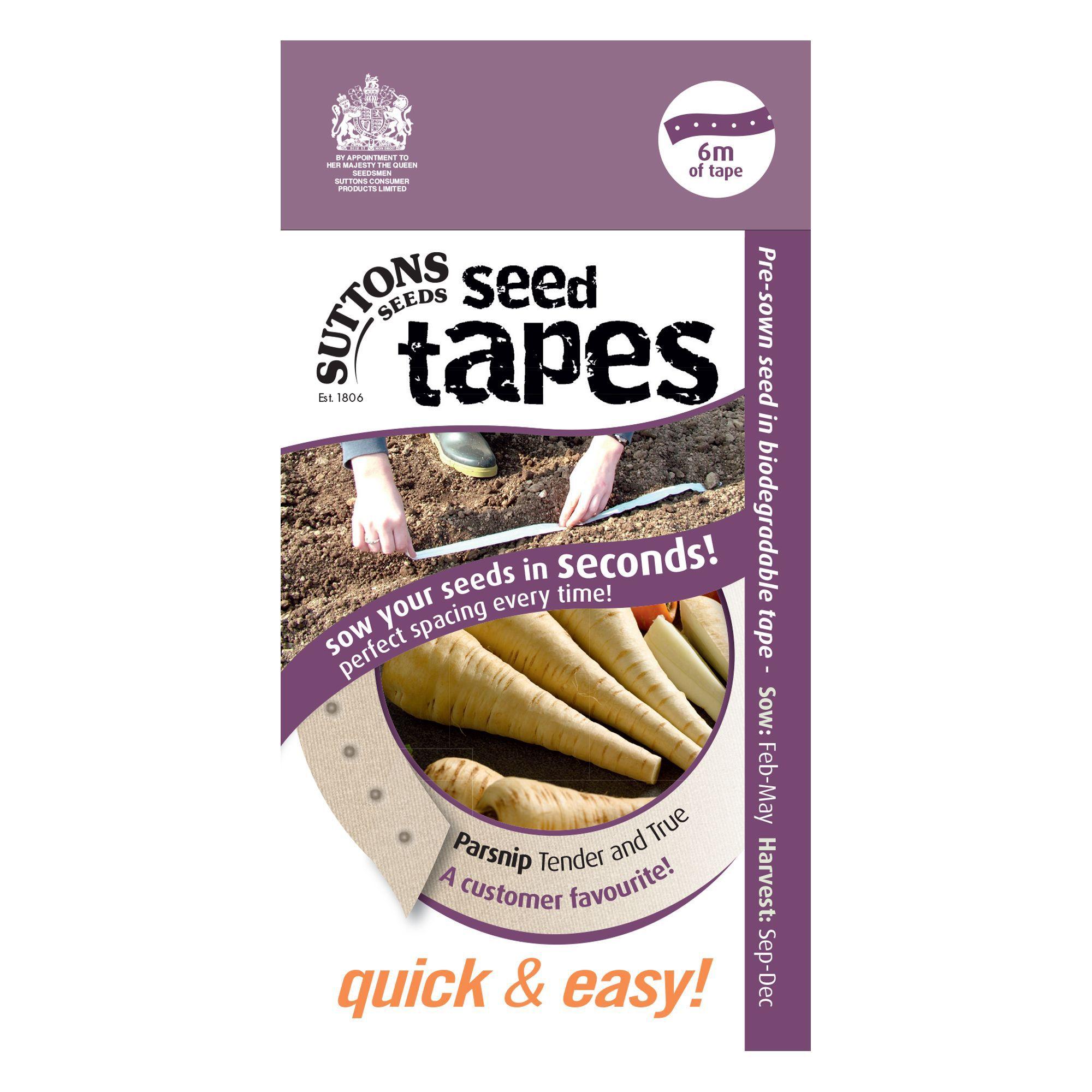 ... Seed Tapes Parsnip Seed Tape, Tender & True Mix | Departments | DIY at