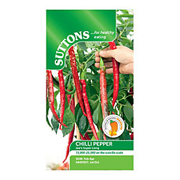 Suttons Chilli Pepper Seeds, Joe's Super Long