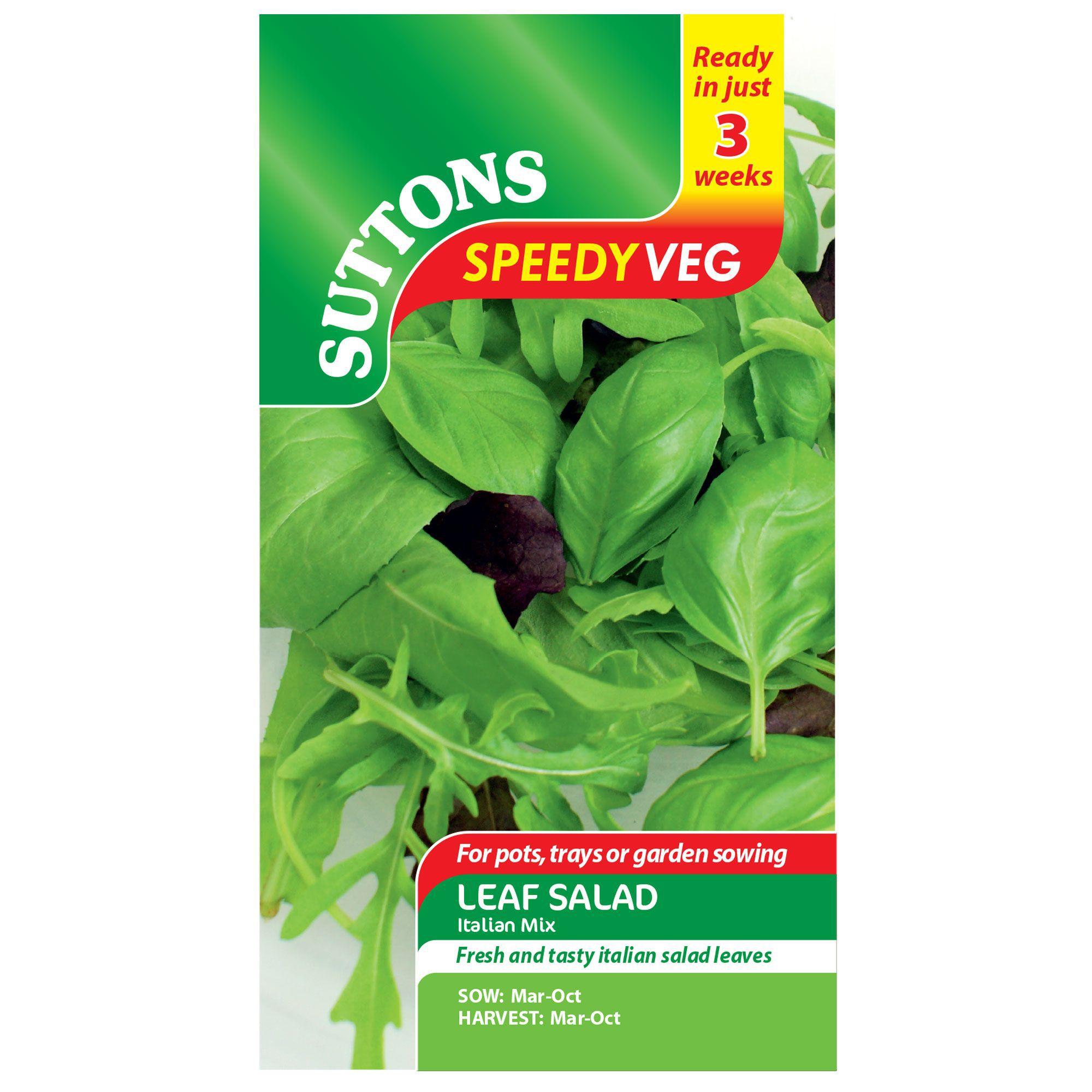 Suttons Speedy Veg Leaf Salad Seeds, Italian Mix