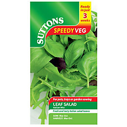Suttons Speedy Veg Leaf Salad Seeds, Italian Mix
