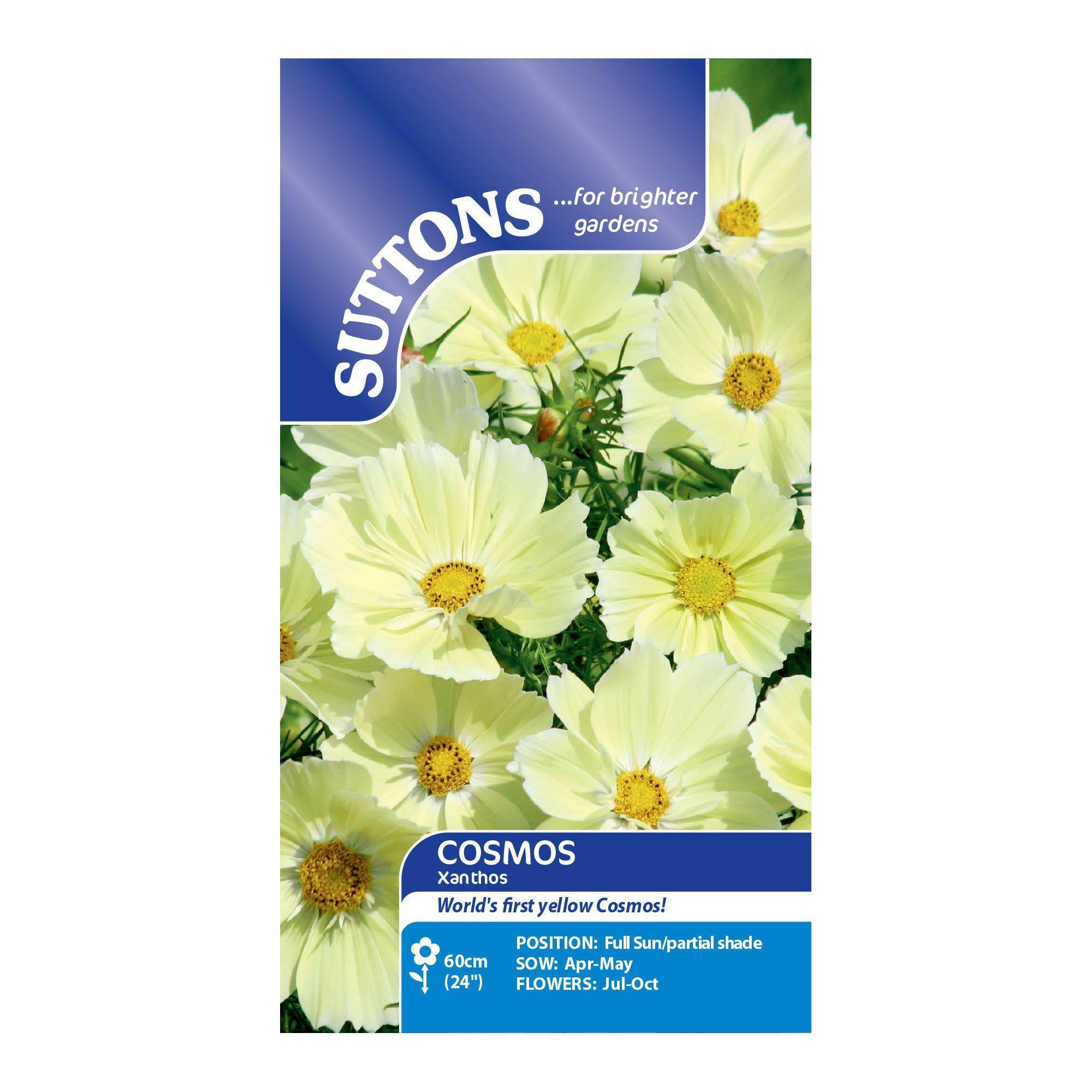 Suttons Cosmos Seeds, Xanthos