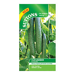 Suttons Cucumber Seeds, F1 Greenfit