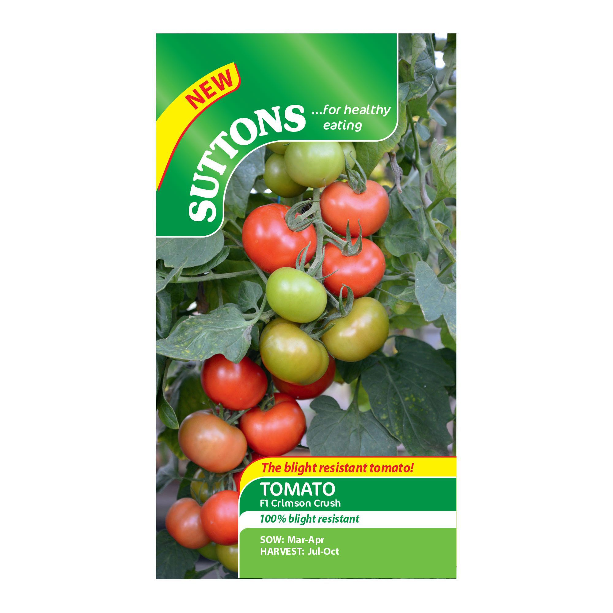 Suttons Tomato Seeds, F1 Crimson Crush