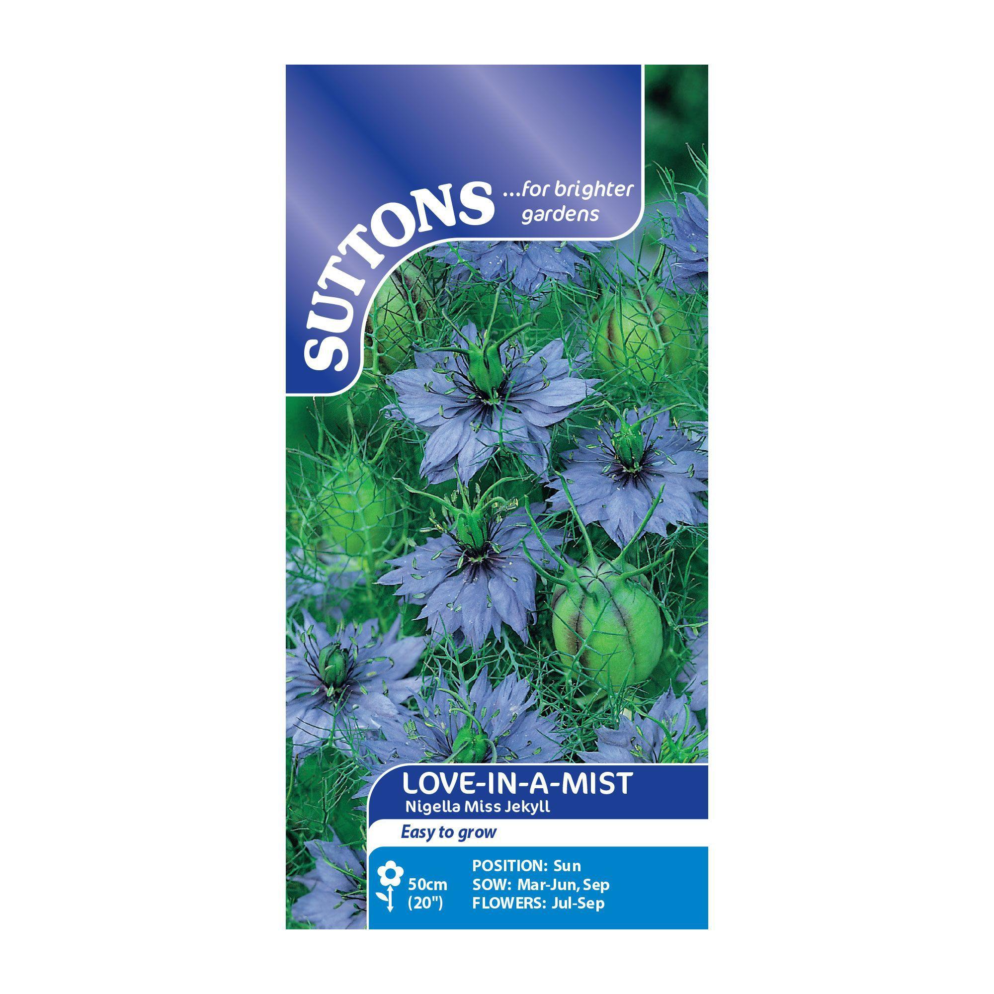 Suttons Love-In-A-Mist Seeds, Nigella Miss Jekyll