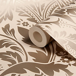Graham & Brown Desire Taupe Damask Wallpaper
