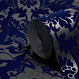 Graham & Brown Marcel Wanders Electric Blue Damask