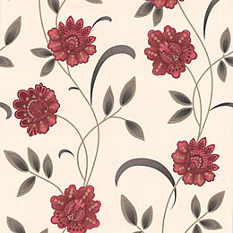 Graham & Brown Sadie Cream & Red Floral