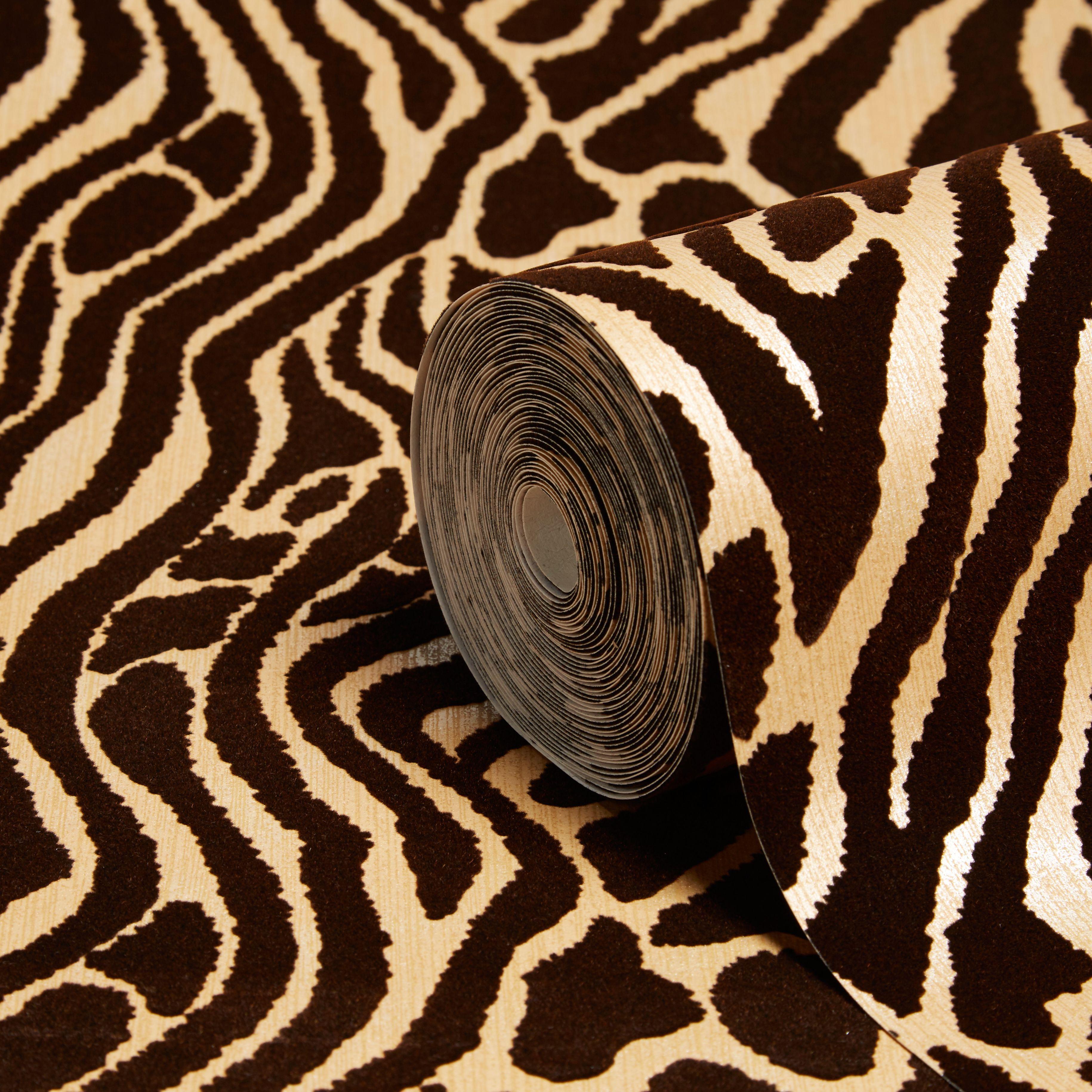graham u0026 brown julien macdonald caffe gold animal print wallpaper