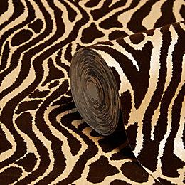 Easy Tiger Caffe Gold Animal Print Wallpaper