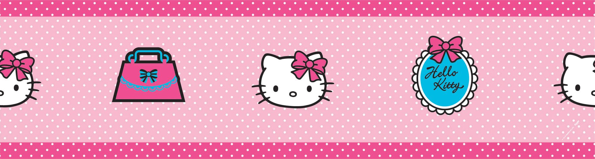 Decofun Hello Kitty Pink Border Departments Diy At B Amp Q