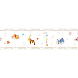 Disney Self Adhesive Winnie The Pooh Multicolour Border