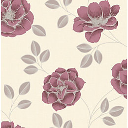 Graham & Brown Superfresco Red Floral Wallpaper