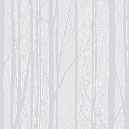 Craig & Rose White Trees Paintable Wallpaper