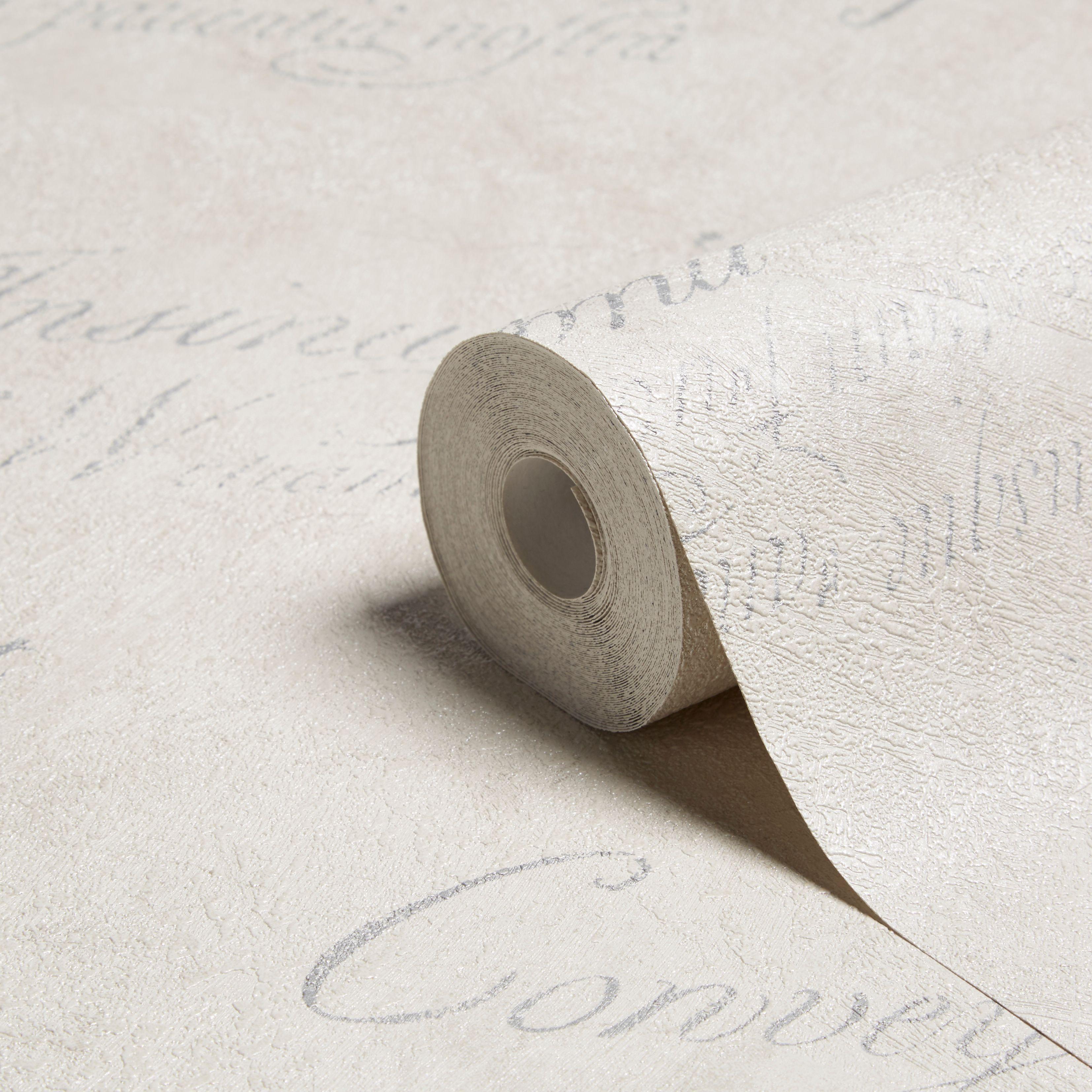graham brown concrete script grey wallpaper - Bathroom Paper