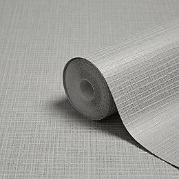 Graham & Brown Kelly Hoppen Silver Shimmer Linen