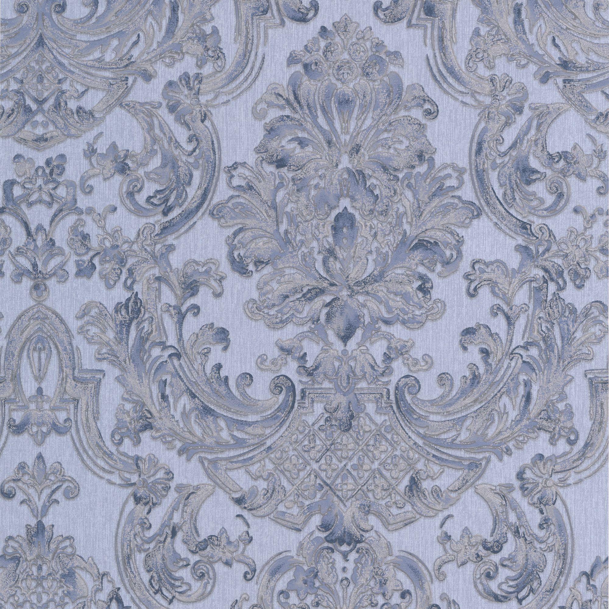 blue room wallpaper diy