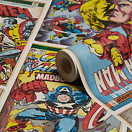 Graham & Brown Marvel Action Heroes Kids Wallpaper