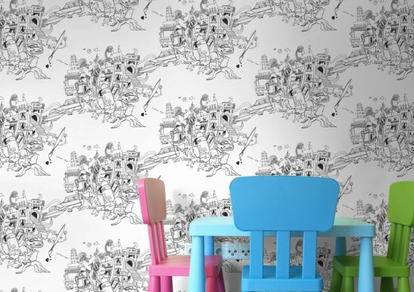 Children s Wallpaper. Wallpaper   Painting   Decorating   DIY at B Q