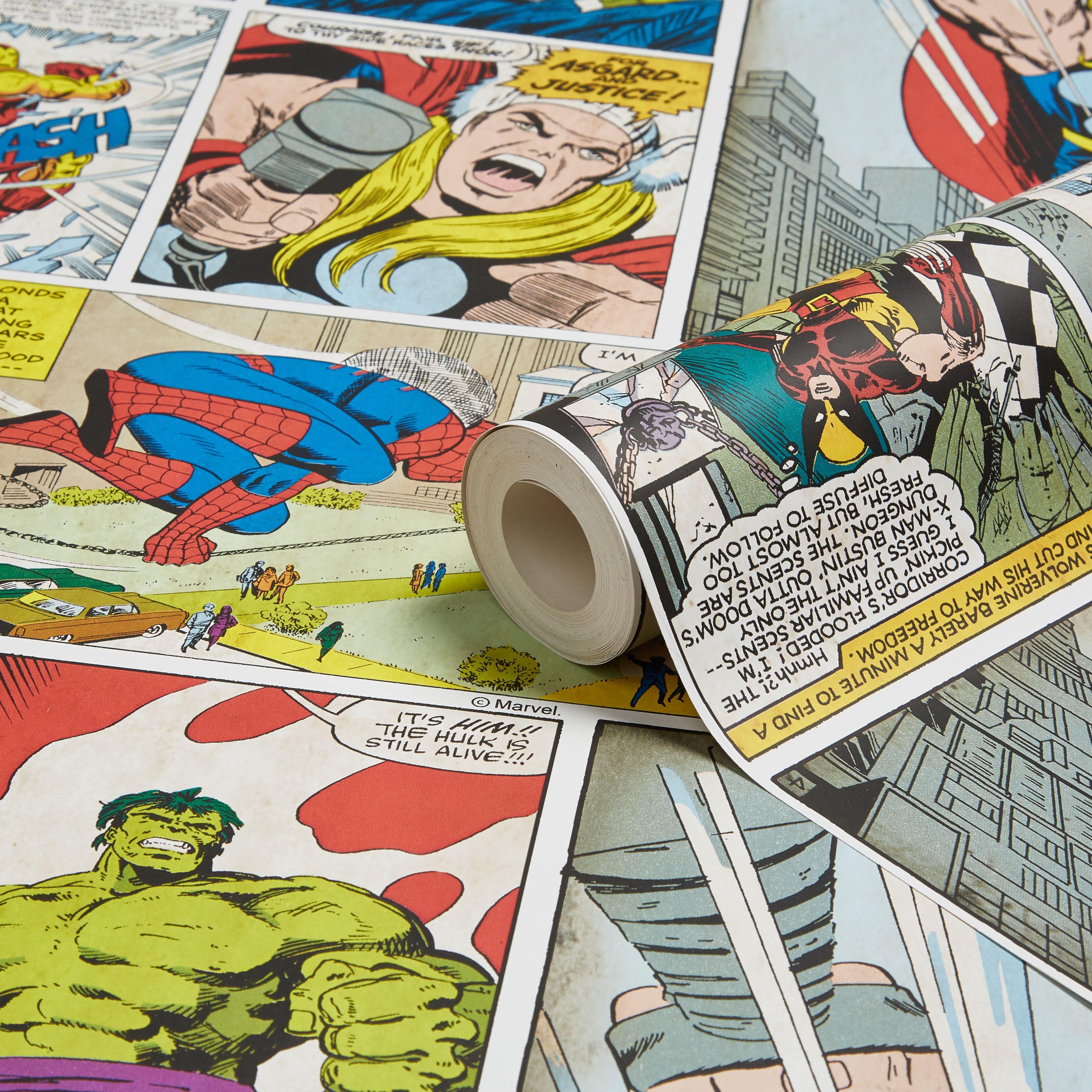 Marvel Comic Strip Children's Wallpaper