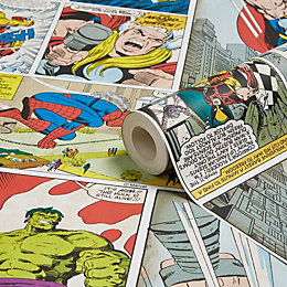 Marvel Marvel Comic Strip Children's Wallpaper