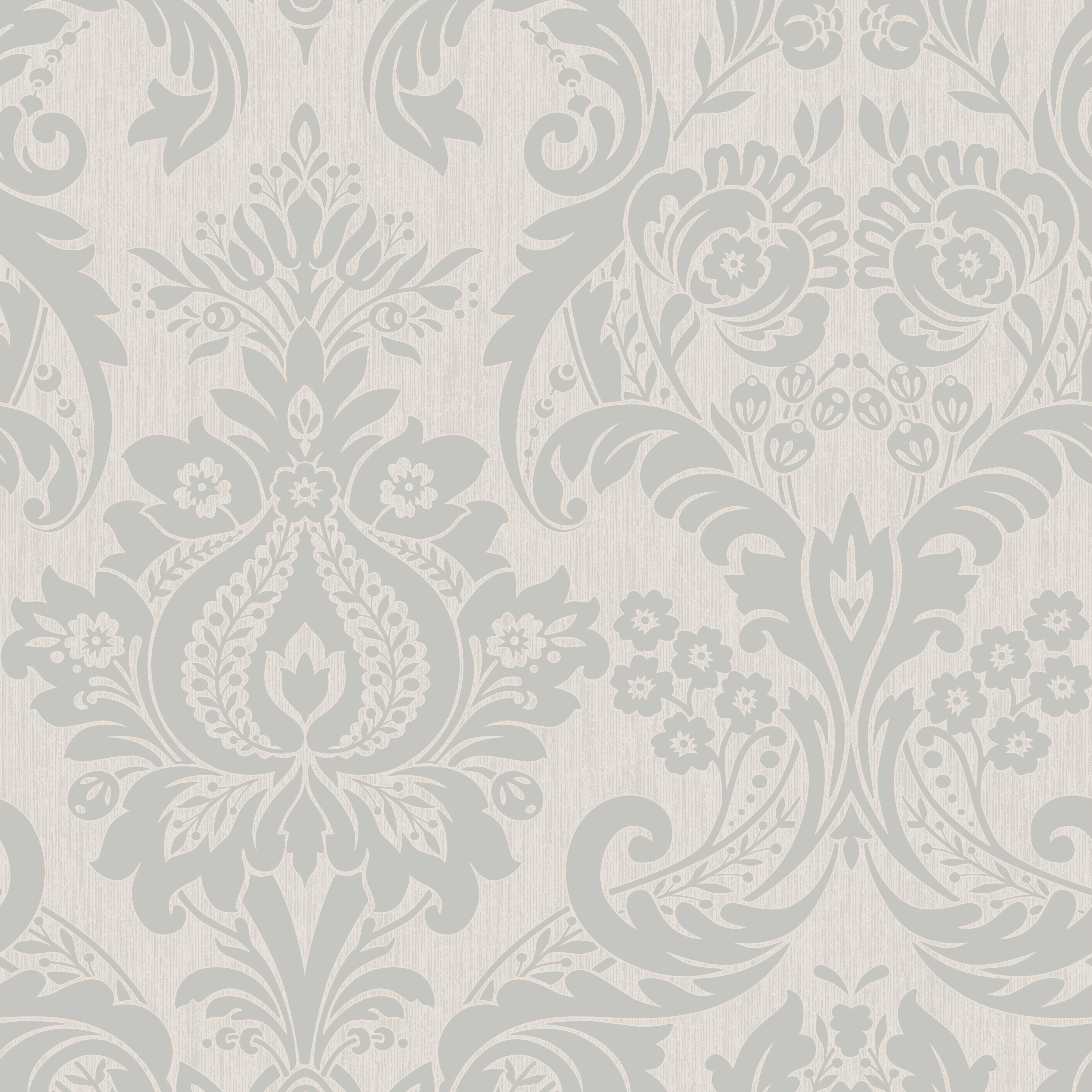 silver damask wallpaper - photo #12