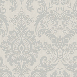 Graham & Brown Superfresco Colours Silver Effect Damask