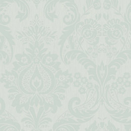 Graham & Brown Superfresco Duck Egg Damask Wallpaper
