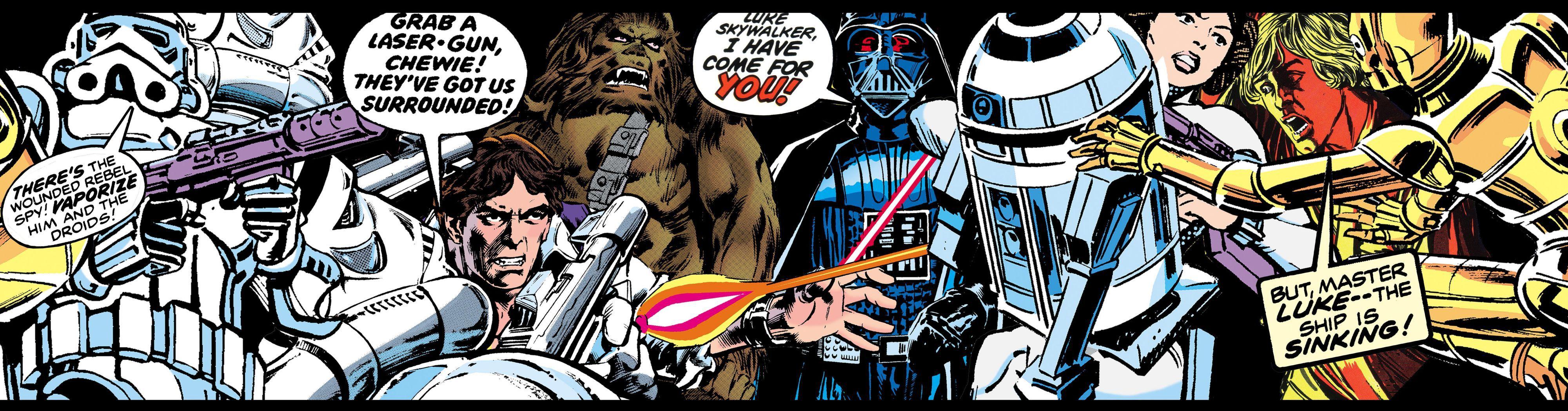 star wars multicolour comic border   departments   diy at b&q