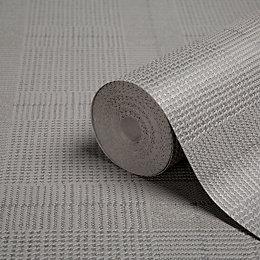 Graham & Brown Superfresco Easy Grey Check Wallpaper