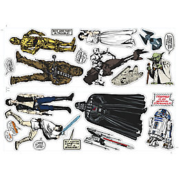 Star Wars Star Wars Multicolour Wall Sticker (L)700mm