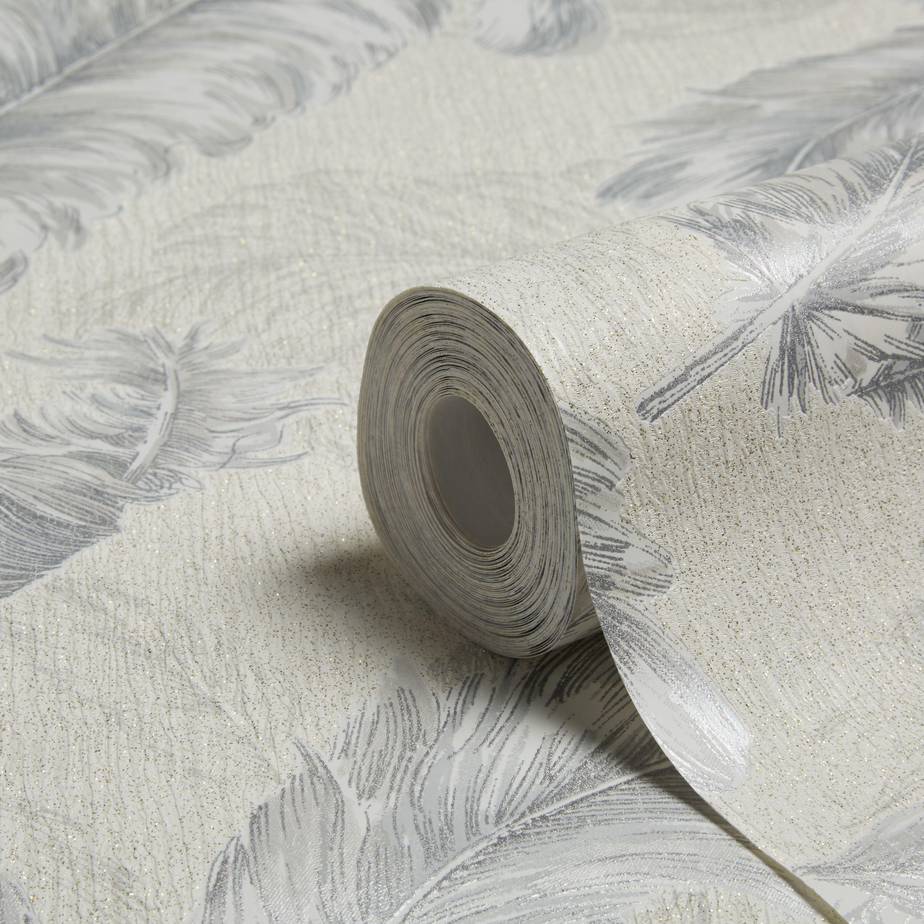 Graham Brown Julien Macdonald Silver White Wallpaper