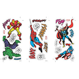Marvel Comics Multicolour Wall Sticker (L)340mm (W)51cm