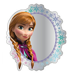 Disney Frozen Printed Unframed Circular Mirror (H)300mm (W)