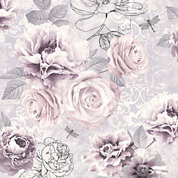 Graham & Brown - Fresco Romantic Ink Pink,