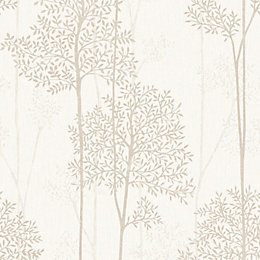 Graham & Brown Eternal Cream & Gold Foliage