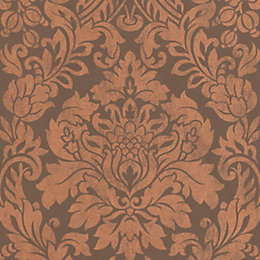 Graham & Brown Artisan Copper Gloriana Metallic Wallpaper