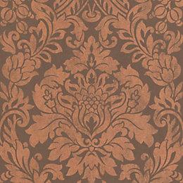 Graham & Brown Artisan Copper Gloriana Metallic Wallpaper