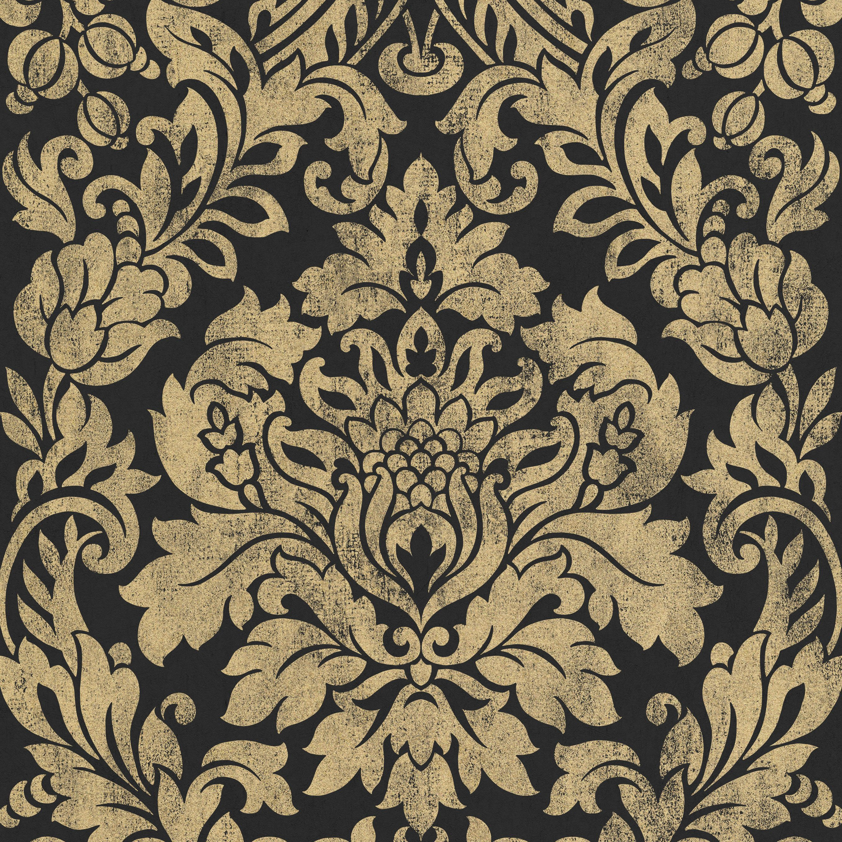 black gold gloriana metallic wallpaper departments diy at b q