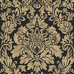 Graham & Brown Artisan Black & Gold Gloriana