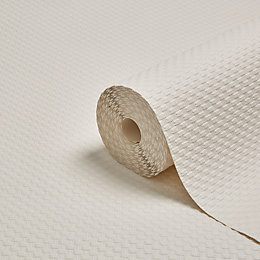 Graham & Brown Superfresco White Weave Textured Paintable