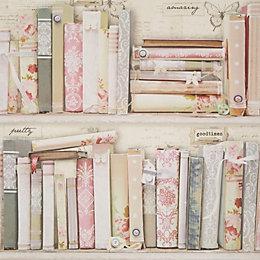 Graham & Brown - Fresco Pink Collage Bookcase