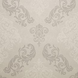 Graham & Brown Elegance Silver Damask Mica Wallpaper