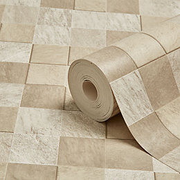 Graham & Brown Contour Beige Natural Stone Tile