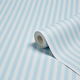 Graham & Brown Blue Striped Matt Wallpaper