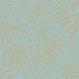 Graham & Brown Pure Aqua & Gold Tropical