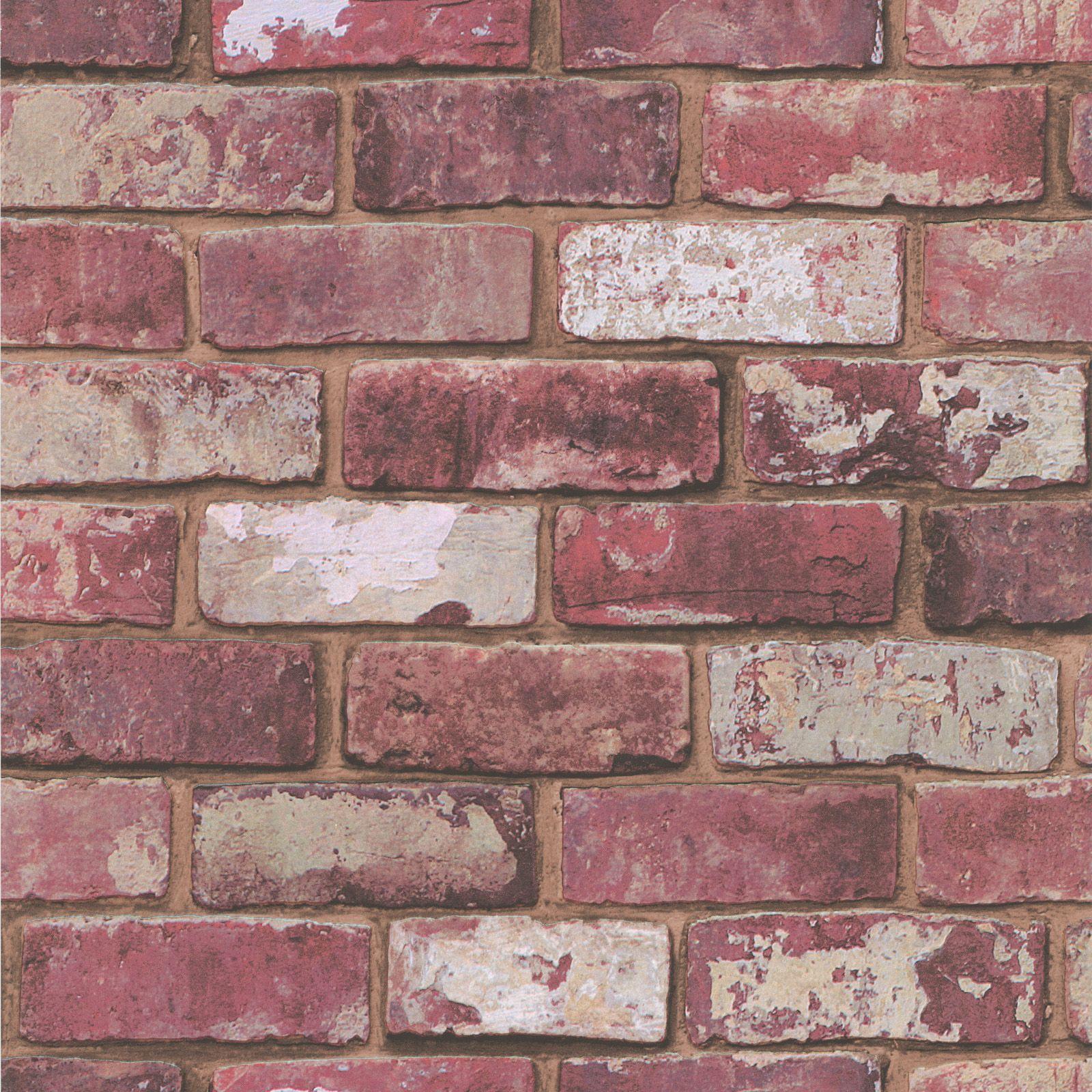 Graham Amp Brown Fresco Red Brick Wallpaper Departments