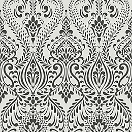 Graham & Brown Superfresco Black & White Damask