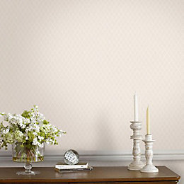 Superfresco Easy Cream Diamond Wallpaper