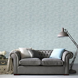 Superfresco Easy Duck Egg Moonlight Mica Effect Wallpaper